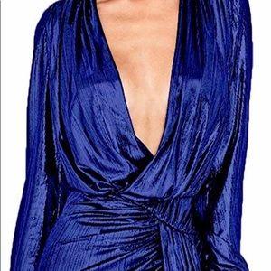 Dresses & Skirts - Women's Sexy Sequins Deep V Neck Long Sleeve Dress
